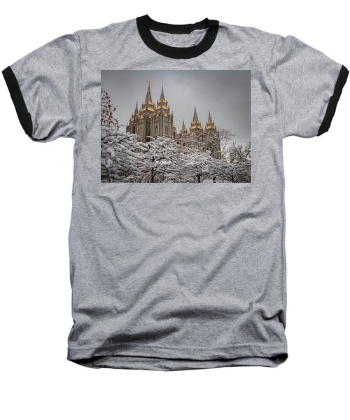 Temple In The Snow Baseball T-Shirt