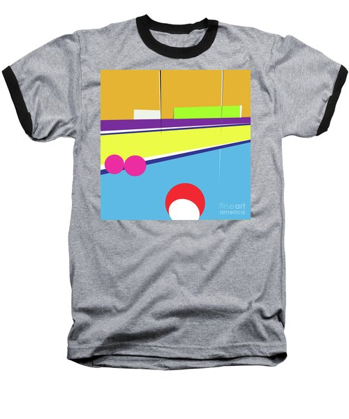 Tennis In Abstraction Baseball T-Shirt