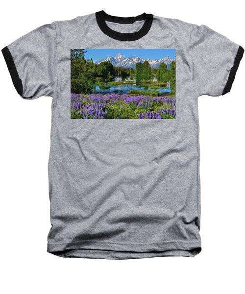 Tetons And Lupines Baseball T-Shirt