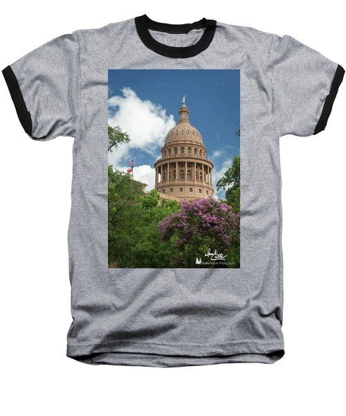 Texas Capital Building Baseball T-Shirt