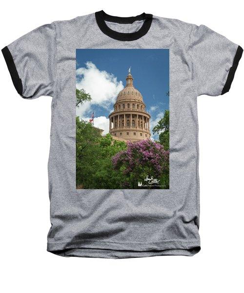 Texas Capital Building Baseball T-Shirt