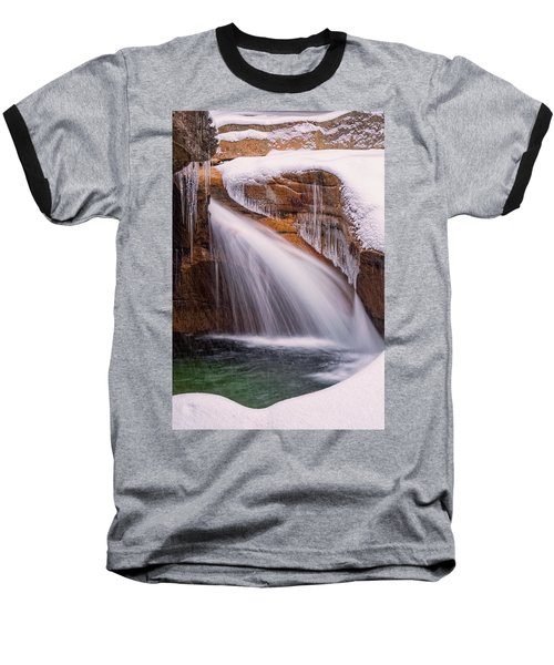 The Basin, Close Up In A Winter Storm Baseball T-Shirt