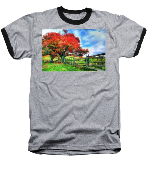 The Beauty Of A Blue Ridge Autumnl Ap Baseball T-Shirt