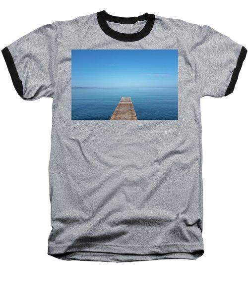 Baseball T-Shirt featuring the photograph The Big Deep Blue by Dubi Roman