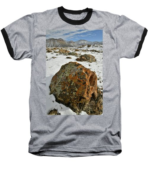 The Book Cliff's Colorful Boulders Baseball T-Shirt