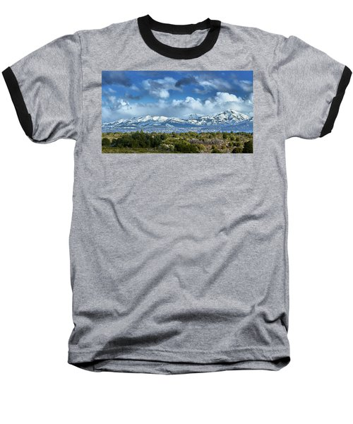 The City Of Bariloche And Landscape Of Snowy Mountains In The Argentine Patagonia Baseball T-Shirt