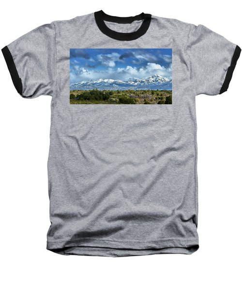 Baseball T-Shirt featuring the photograph The City Of Bariloche Surrounded By Mountains by Eduardo Jose Accorinti