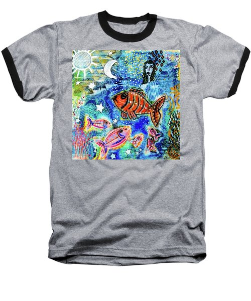 The Day The Stars Fell Into The Ocean Baseball T-Shirt
