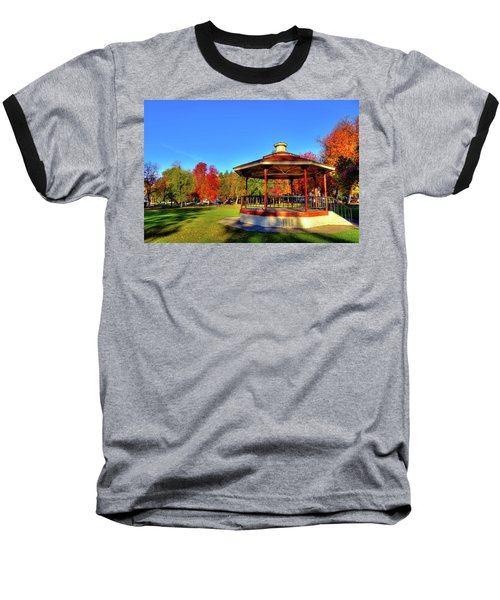 Baseball T-Shirt featuring the photograph The Gazebo At Reaney Park by David Patterson