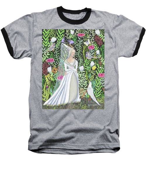 The Lady Vanity Takes A Break From Mirroring To Dream Of An Unusual Garden  Baseball T-Shirt
