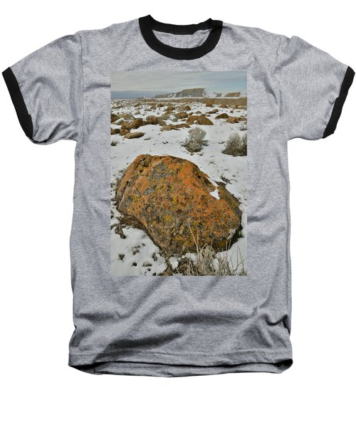 The Lichen Covered Boulders Of The Book Cliffs Baseball T-Shirt