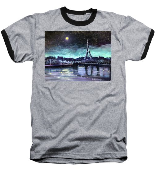 The Lights Of Paris Baseball T-Shirt