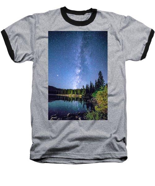 The Milky Way Over Echo Lake Baseball T-Shirt