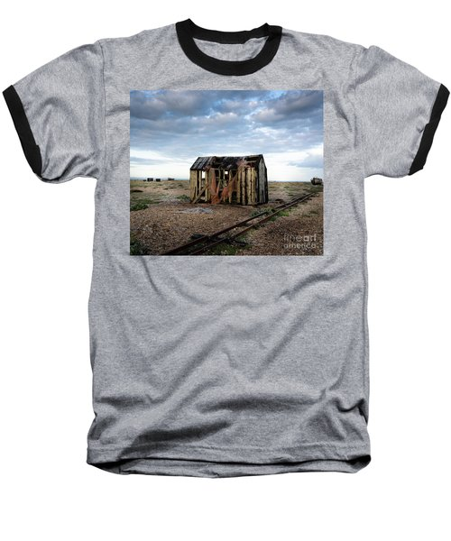 Baseball T-Shirt featuring the photograph The Net Shack, Dungeness Beach by Perry Rodriguez