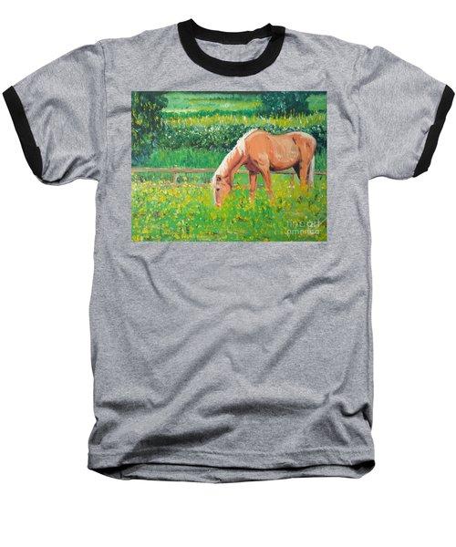 The Palomino And Buttercup Meadow Baseball T-Shirt