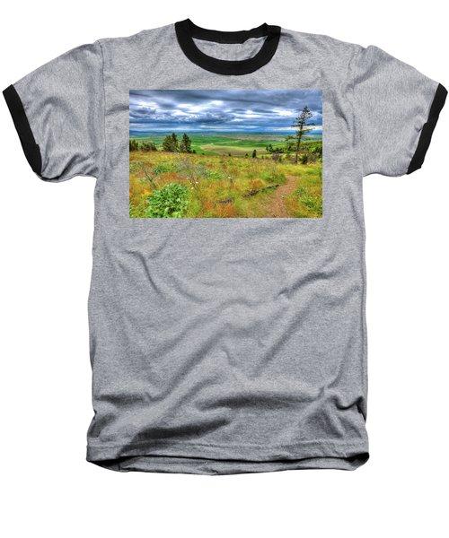 Baseball T-Shirt featuring the photograph The Path Down Kamiak Butte by David Patterson