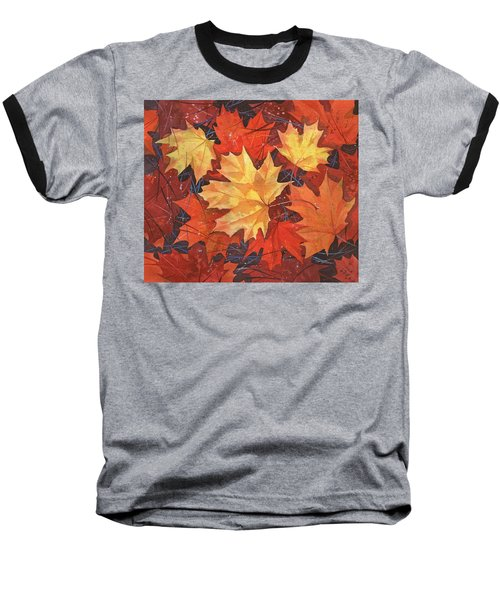 The Poem Of Autumn Leaves Baseball T-Shirt