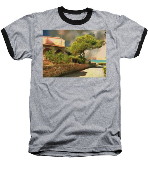 Baseball T-Shirt featuring the photograph The Road To The Sea by Leigh Kemp