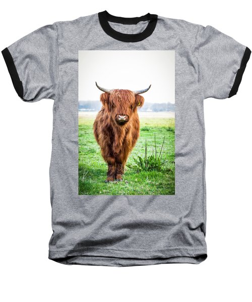 Baseball T-Shirt featuring the photograph The Scottish Highlander by Anjo Ten Kate