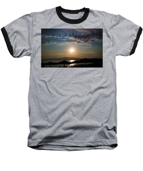 Baseball T-Shirt featuring the photograph the Sky above Us by Milena Ilieva