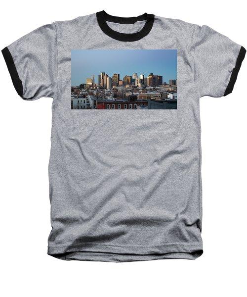 The Skyline Of Boston In Massachusetts, Usa On A Clear Winter Ev Baseball T-Shirt