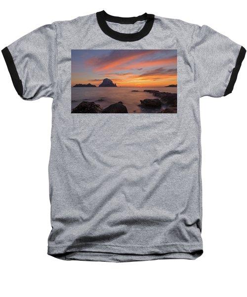 The Sunset On The Island Of Es Vedra, Ibiza Baseball T-Shirt