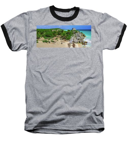 The Temple By The Sea Baseball T-Shirt