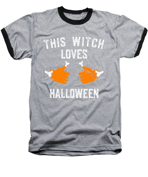 This Witch Loves Halloween Baseball T-Shirt
