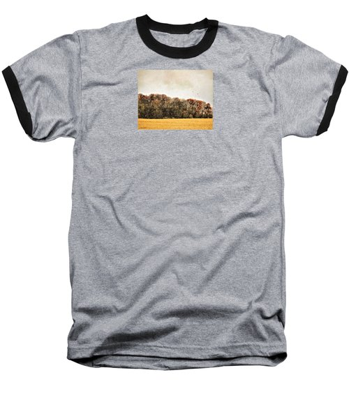 Three Crows And Golden Field Baseball T-Shirt