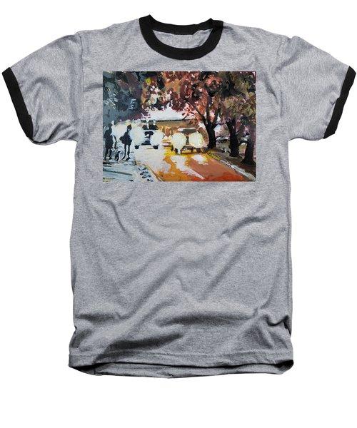 Early Morning Walk Baseball T-Shirt