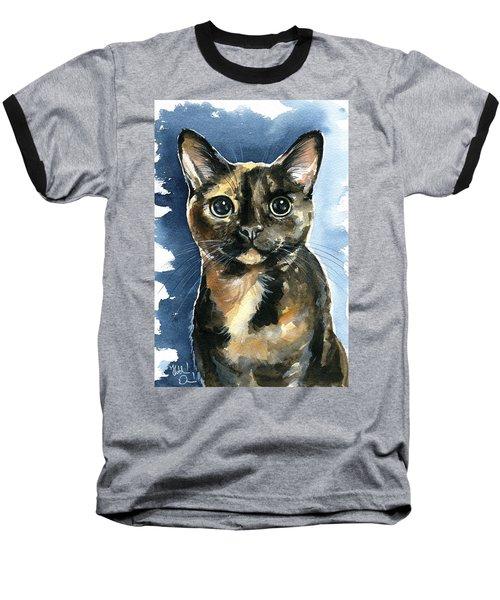 Tiffany Tortoiseshell Cat Painting Baseball T-Shirt