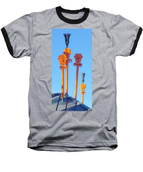 Tiki Palm Springs Baseball T-Shirt