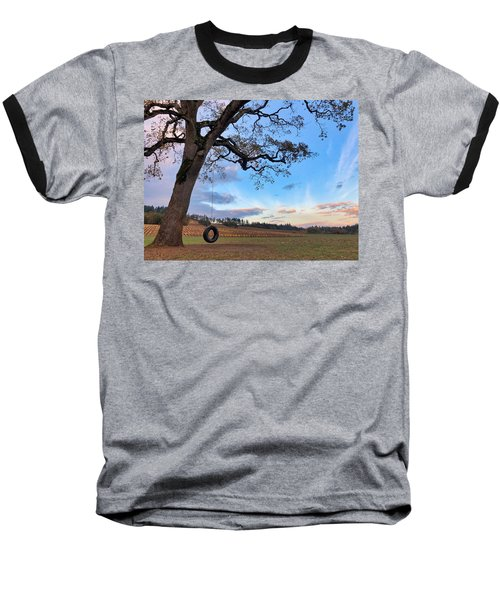 Tire Swing Tree Baseball T-Shirt