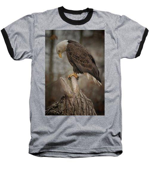 Tired Eagle Dad  Baseball T-Shirt
