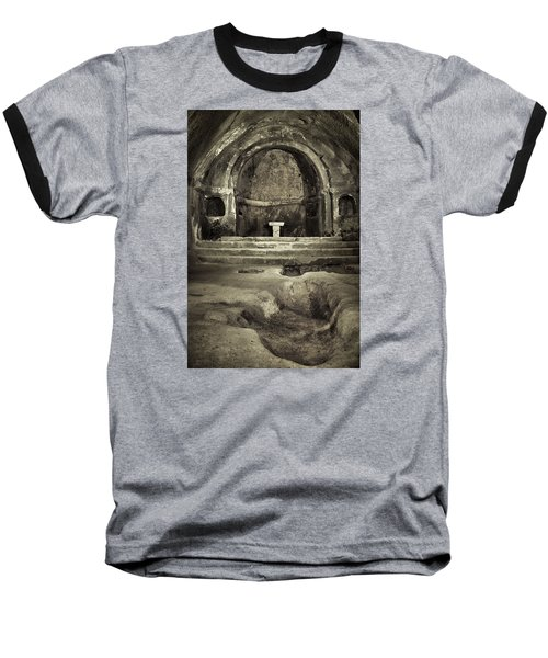 Baseball T-Shirt featuring the photograph Tomb And Altar In The Monastery Of San Pedro De Rocas by Eduardo Jose Accorinti