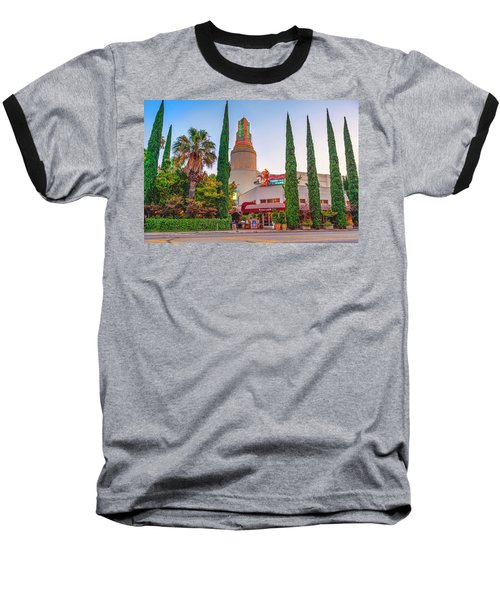 Tower Cafe Sunset- Baseball T-Shirt