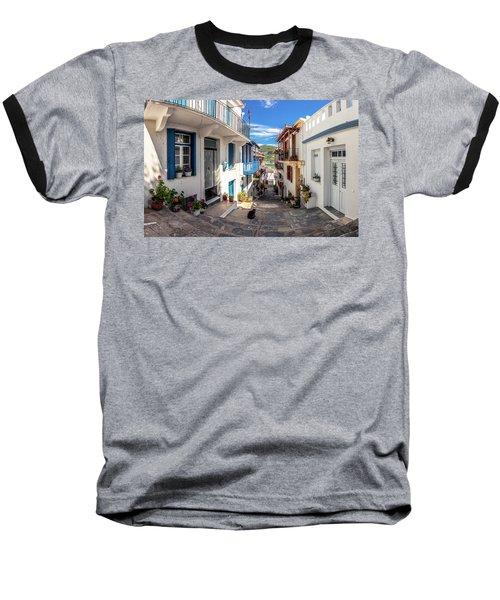 Town Of Skopelos Baseball T-Shirt