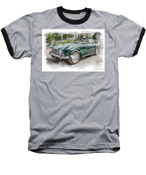Triumph Tr5 At Roman Gardens Baseball T-Shirt
