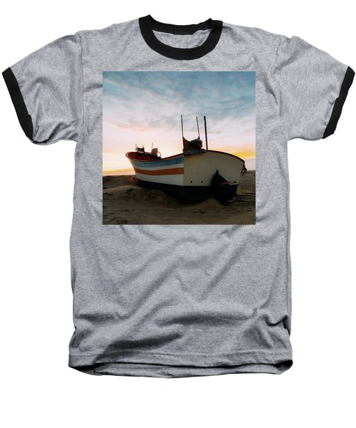Traditional Wooden Fishing Boat Baseball T-Shirt