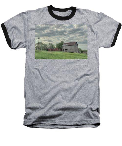 Train Cars And A Barn Baseball T-Shirt