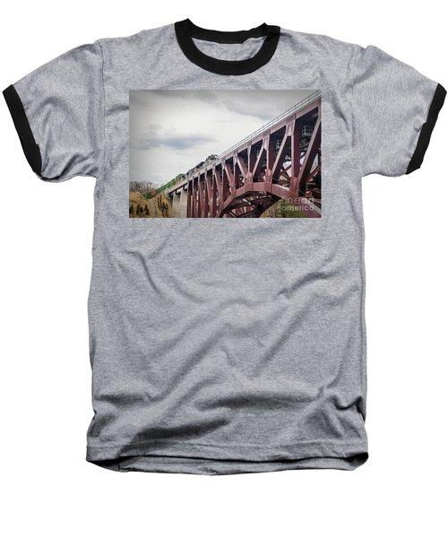 Train Over Letchworth Baseball T-Shirt