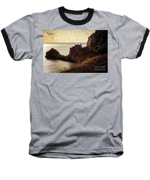 Tranquil Mediterranean Sunset    Baseball T-Shirt