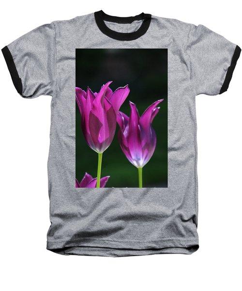 Translucent Tulips Baseball T-Shirt