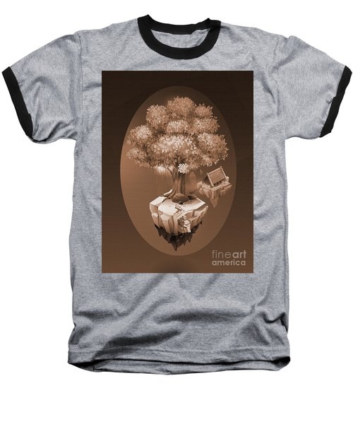 Tree House In The Rock  Baseball T-Shirt