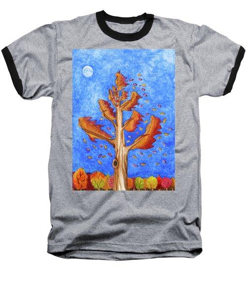 Tree In Autumn Wind I Baseball T-Shirt
