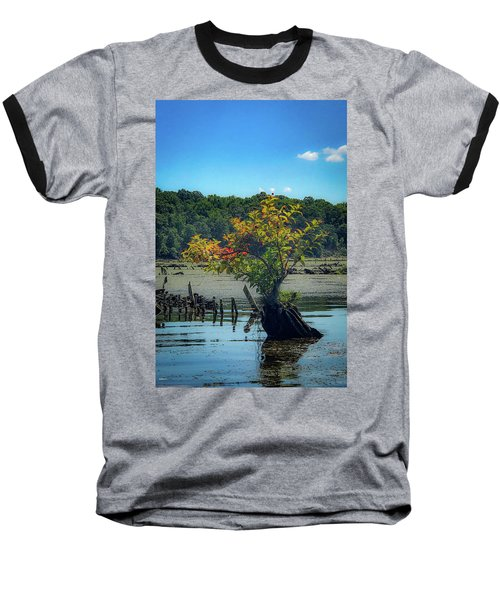 Baseball T-Shirt featuring the photograph Tree In Mallows Bay by Lora J Wilson