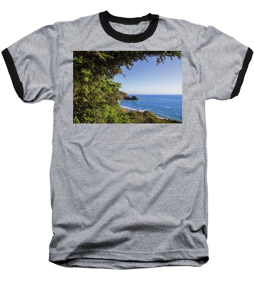 Trees And Ocean Baseball T-Shirt