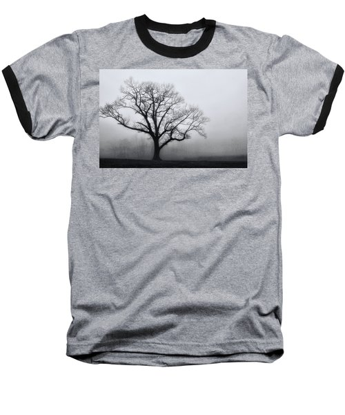 Trees In Fog # 2 Baseball T-Shirt