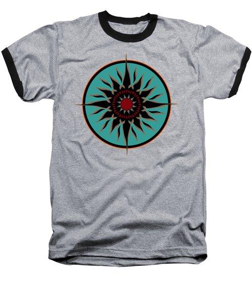 Tribal Sun Baseball T-Shirt