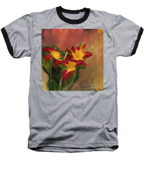 Trio Of Day Lilies Baseball T-Shirt